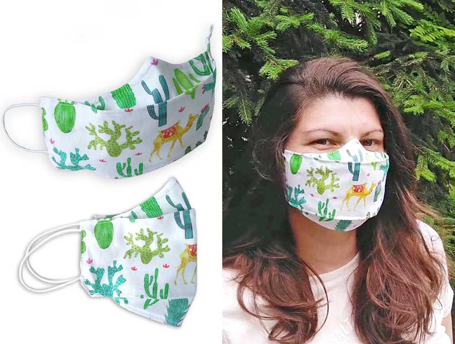3d face mask pattern