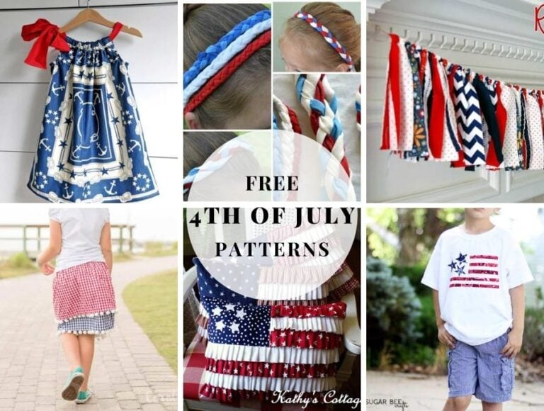 4th of July Sewing Projects – Easy RED, WHITE, and BLUE Patriotic patterns