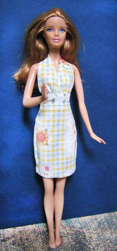 halter dress pattern for barbie doll