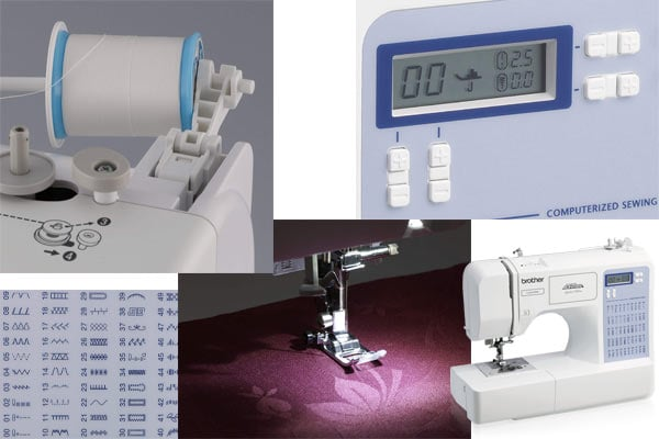 LCD, thread and stitch panel of the CS5055PRW