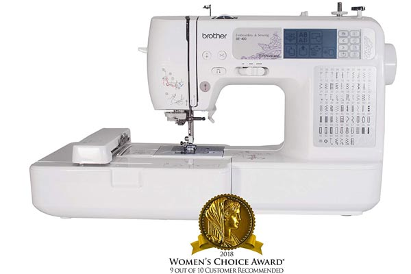 Brother SE400 sewing machine takes the embroidery to the next level