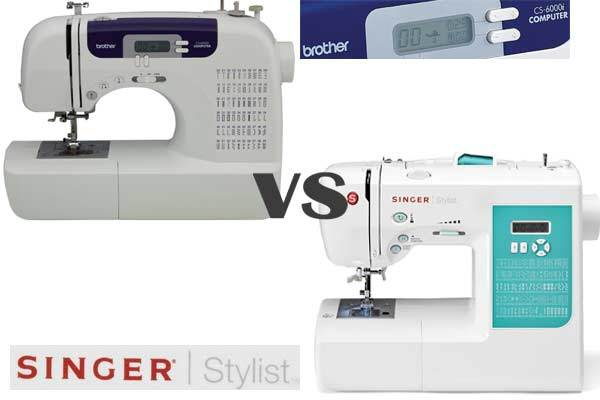 Brother CS6000i vs Singer 7258 detailed comparison of all features