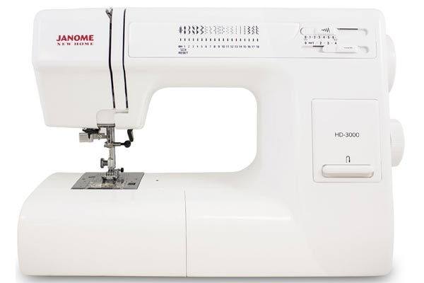 Janome HD3000 heavy duty mechanical sewing machine is our #1 leather sewing machine pick