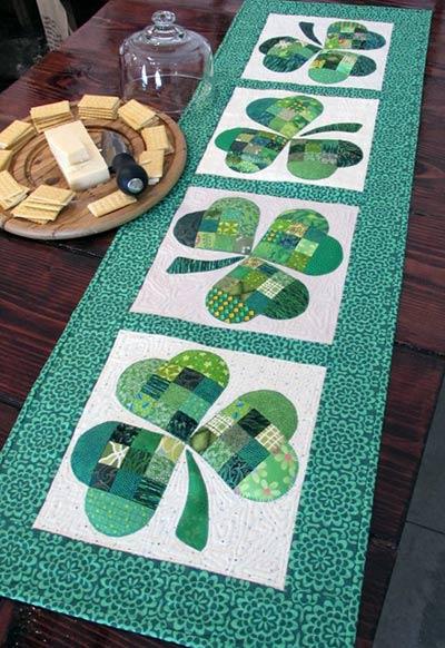 pattern for st.patrik's day table runner