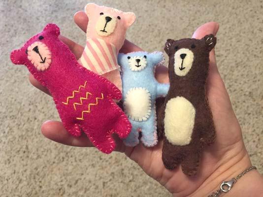 free felt teddy bear pattern