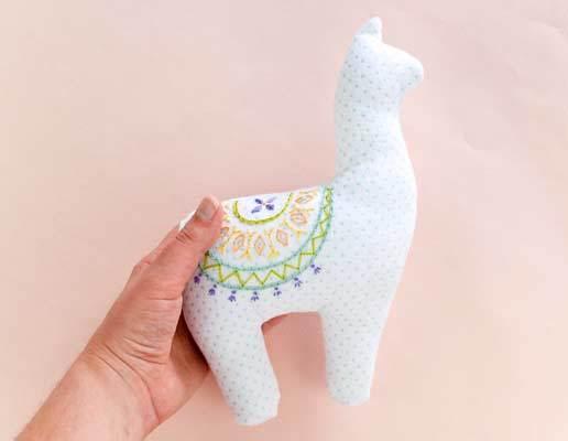 free stuffed llama pattern