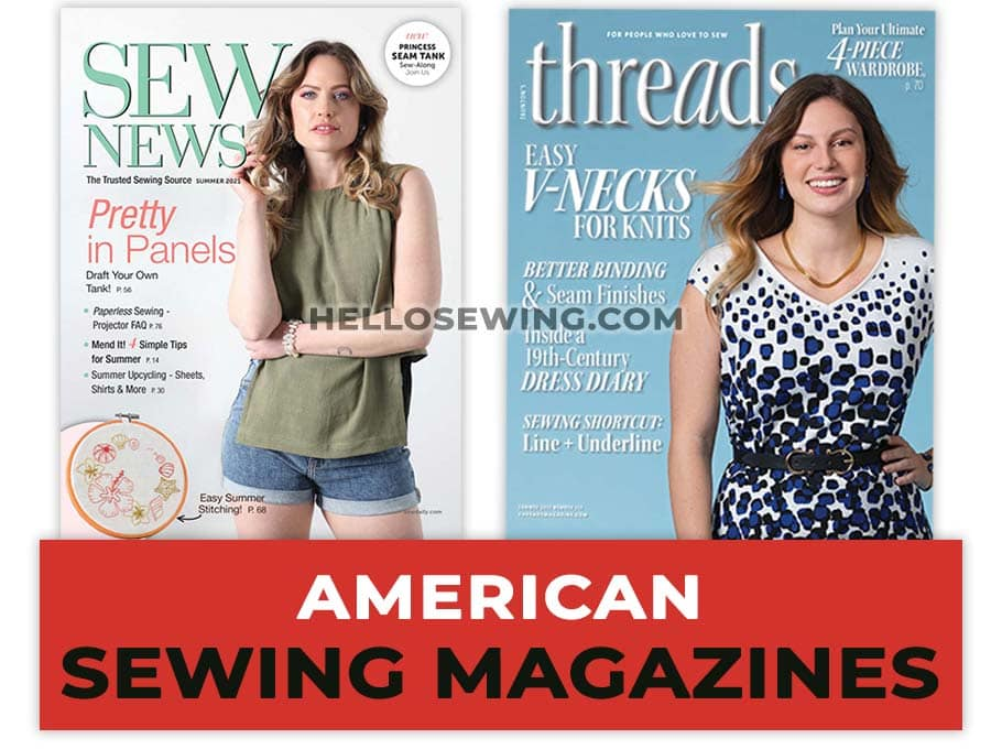 american / us sewing magazines
