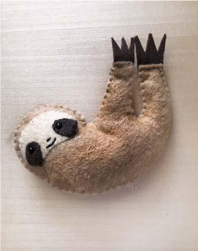 free felt pocket sloth pattern