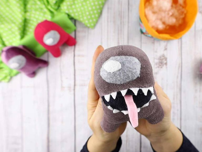 Among Us Imposter Plush Pattern and VIDEO Tutorial