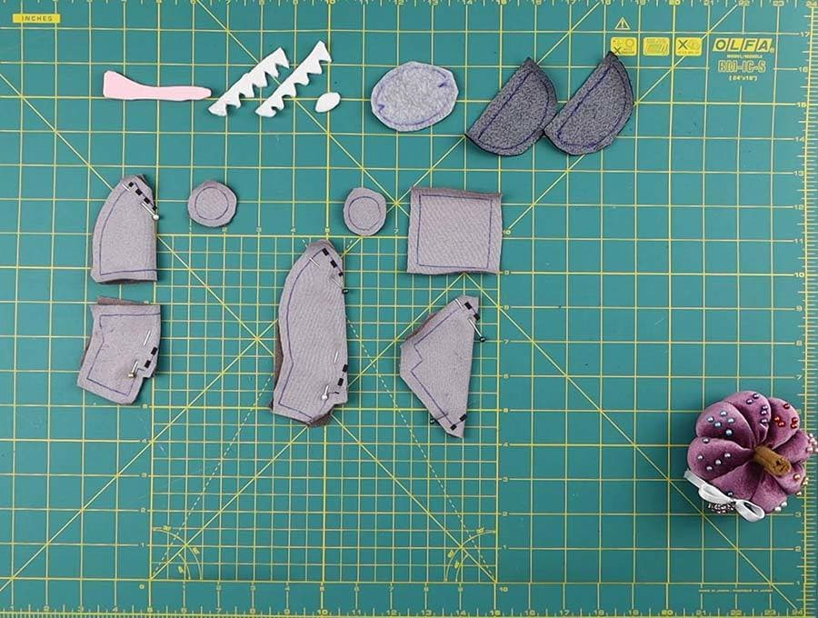 pinned parts of imposter plush