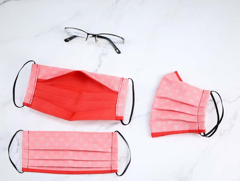 Anti fog face Mask for Glasses Wearers | Reverse Nose Fold Face Mask Pattern