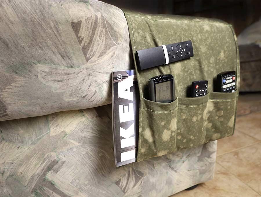 armchair remote caddy diy