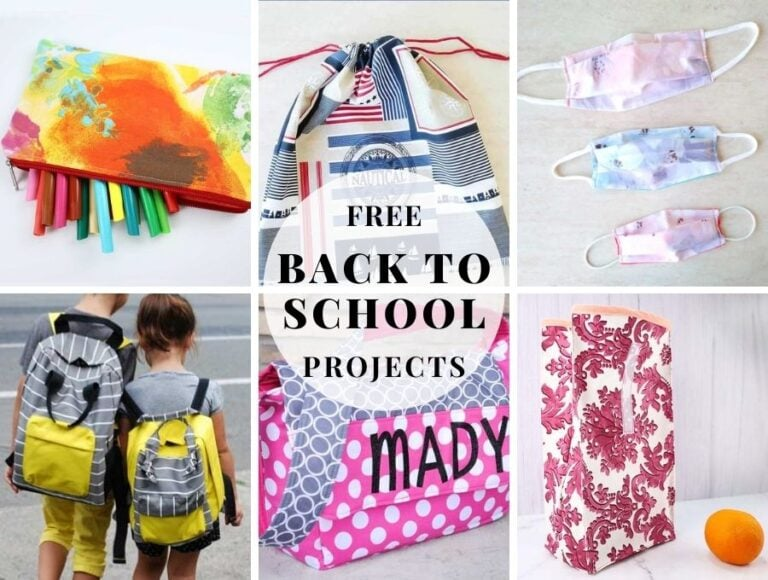 25+ Easy Back to School Sewing Projects with Free Patterns and Tutorials