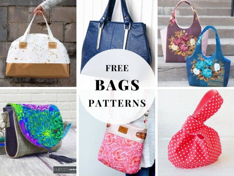 25+ Free Bag Sewing Patterns YOU Can Sew