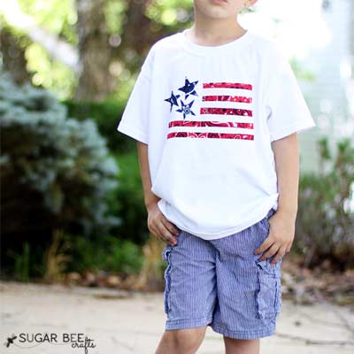 bandana tshirt idea for 4th of july sewing