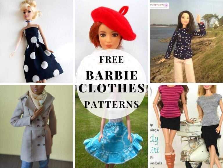 11+ Free Barbie Clothes Patterns to Dress Up Your Fashion Doll