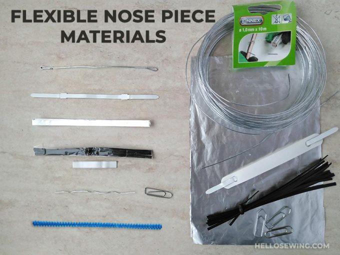 for mask Mask nose top bridge used for DIY manual masks shape bar white metal filter bag nose line,Aluminum nose band bridge