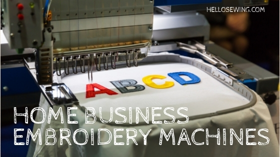 embroidery machine for home business header image