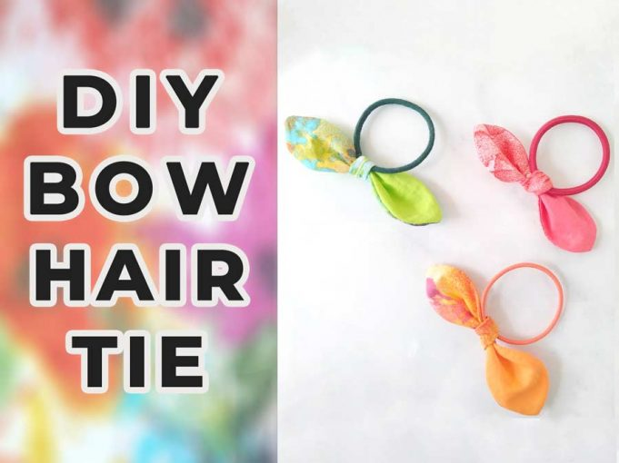 How to make hair ties with free knot bow hair tie pattern