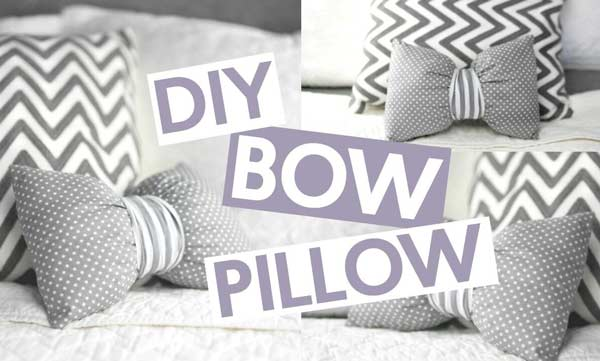 bow style pillow