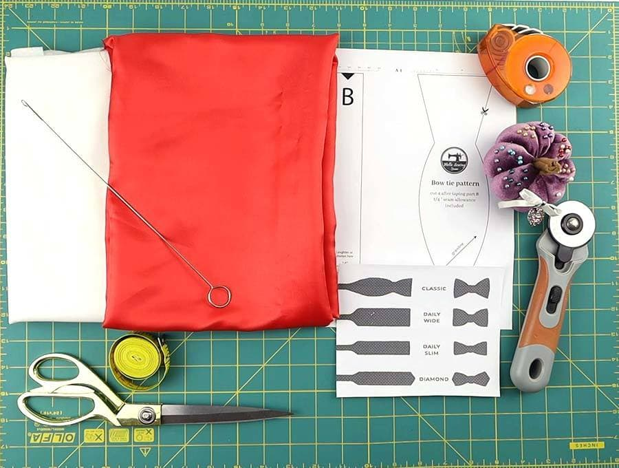 sewing bow tie supplies