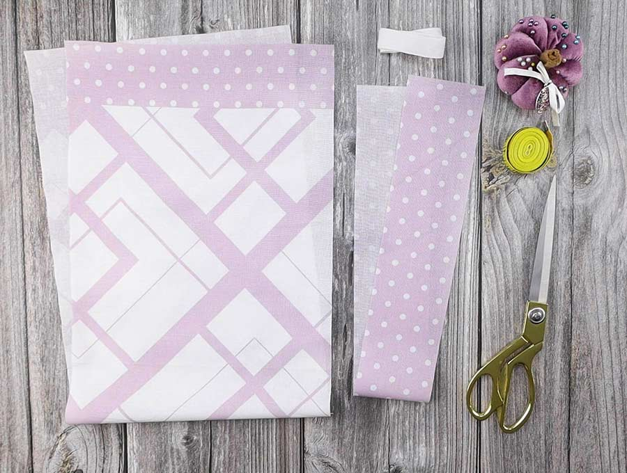 supplies and pattern to sew a bread bag