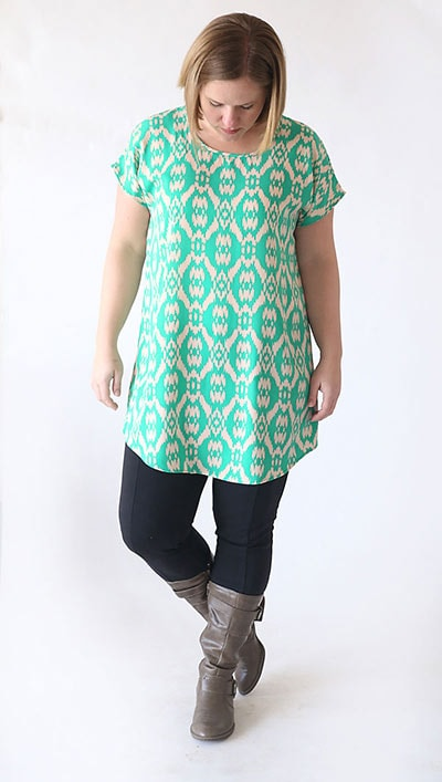 breezy tunic with short sleeves