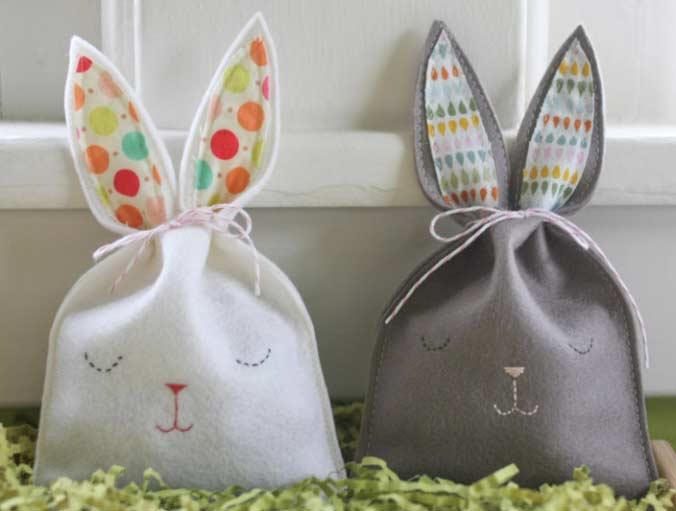 sew a bunny treat bag
