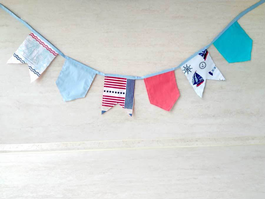 bunting with pinking shears