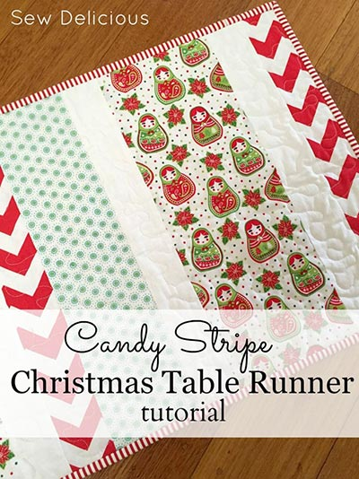 candy stripe table runner pattern