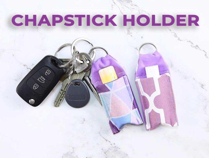 DIY chapstick holder keychain