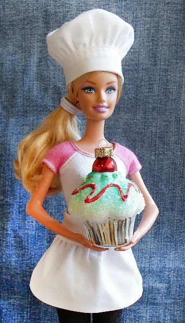 barbie chef apron and hat