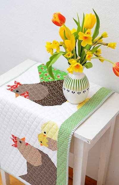 spring table runner for advanced quilters pattern