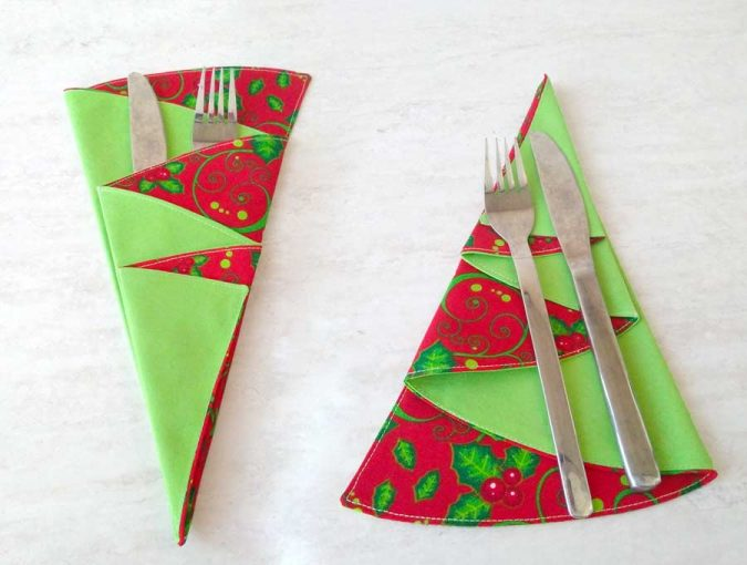 How to make christmas tree napkins