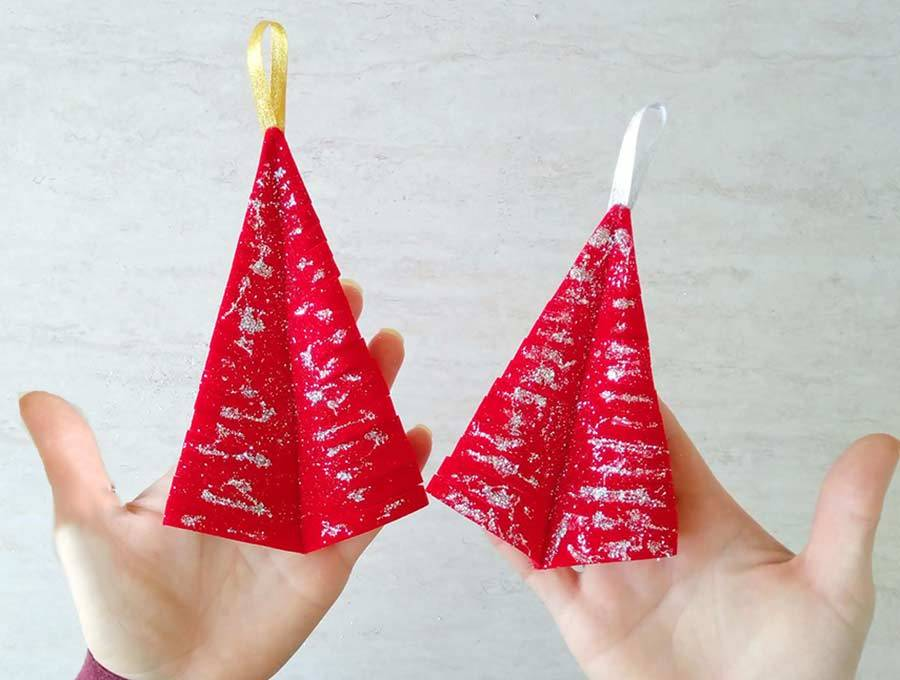 finished christmas tree ornaments - such an easy DIY