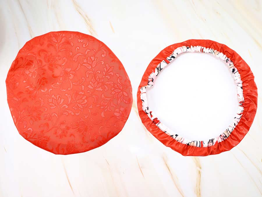 cloth bowl cover top and bottom view