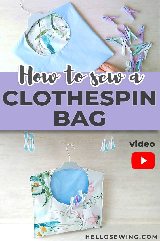 Reversible clothespin bag
