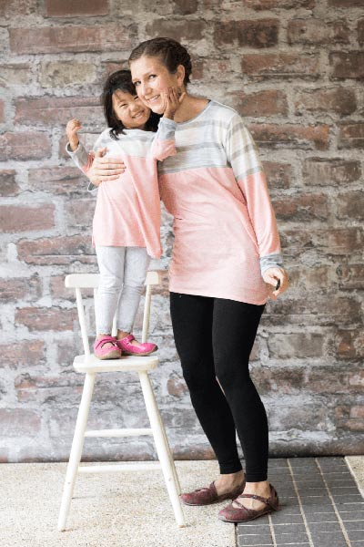 color blocked tunic for girls and women