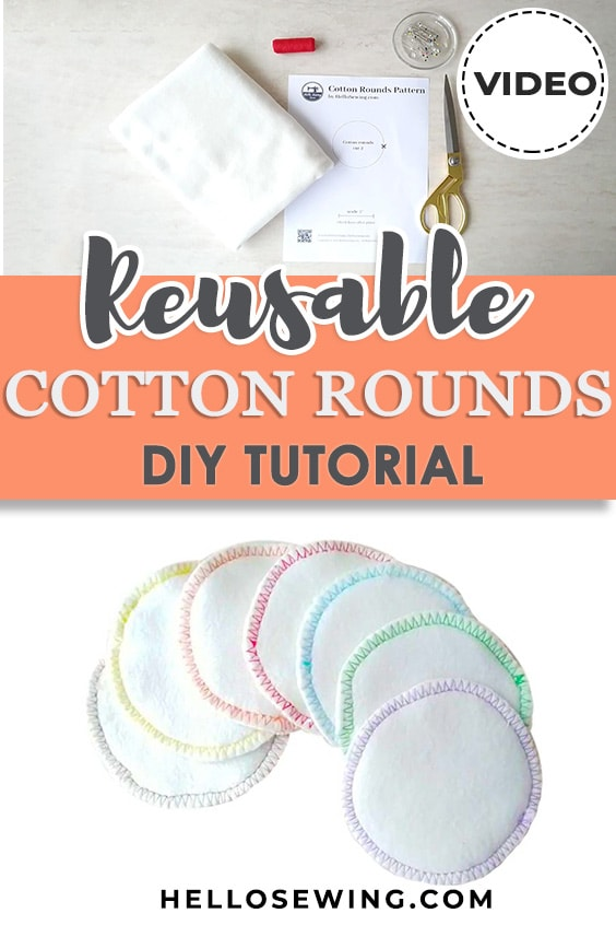 DIY cotton rounds (Free sewing project)