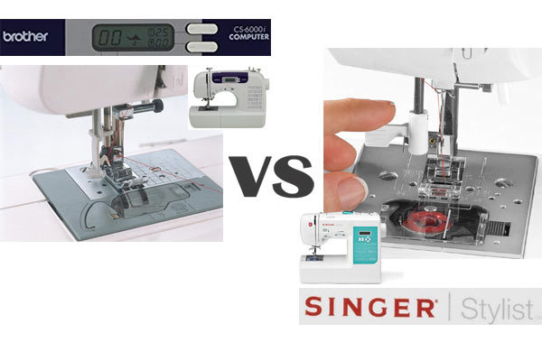 Which performs faster and better - the Brother CS6000i or the Singer 7258?