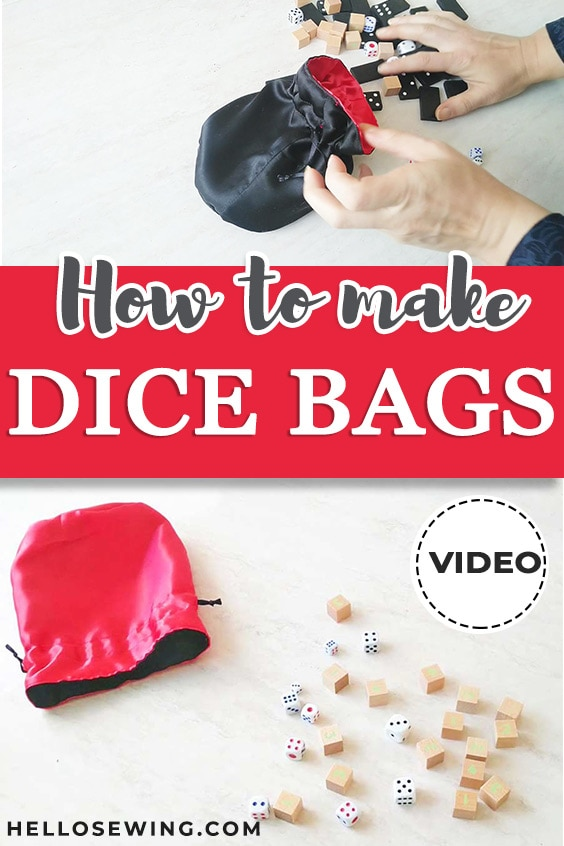 DIY dice bag pin