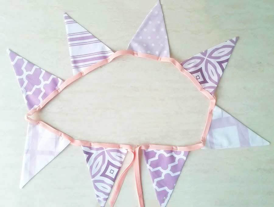 fabric buntings - back view