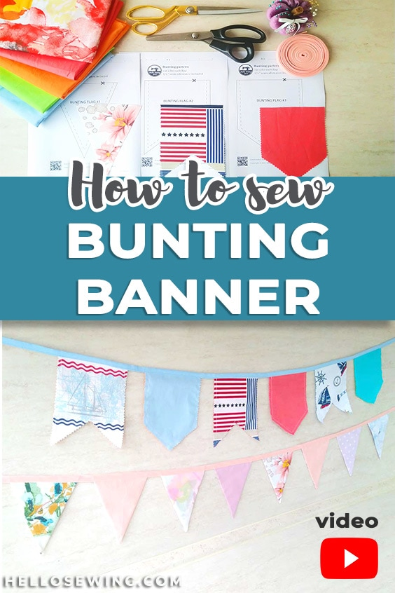 DIY Bunting Banner with Template and VIDEO