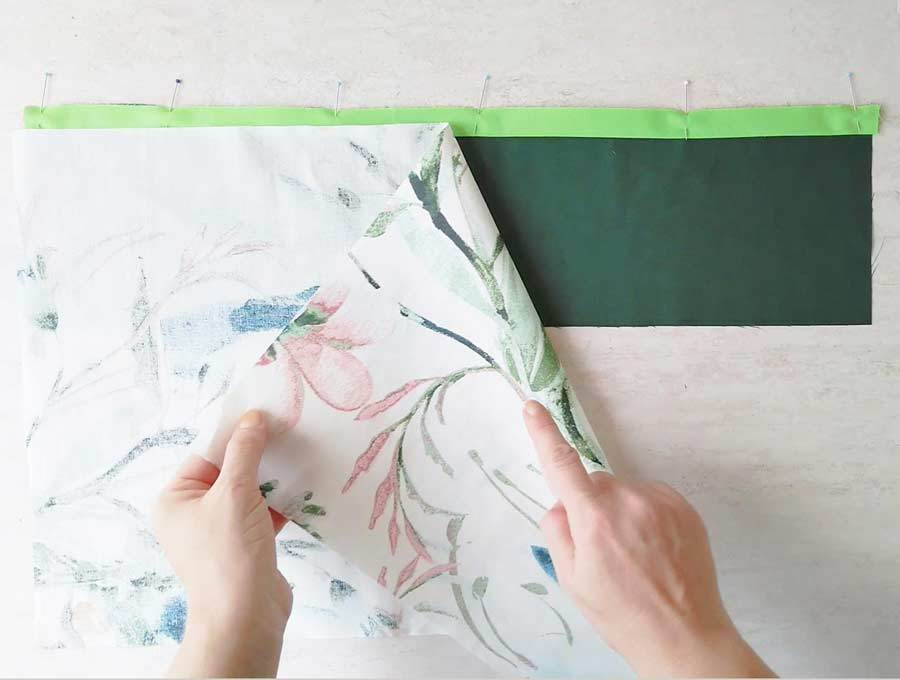 layering handmade pillowcase fabrics