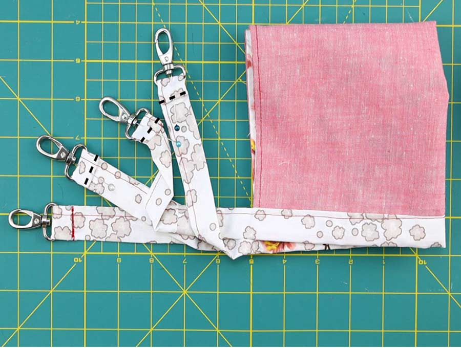 diy cat hammock stitching of the swivel clamps to the arms
