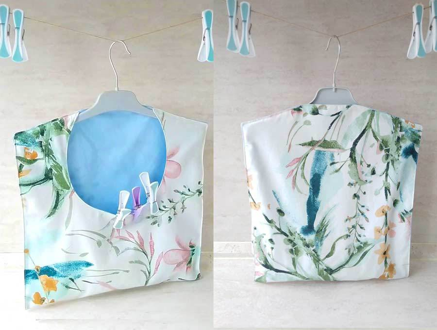 back and front of clotheslines bag