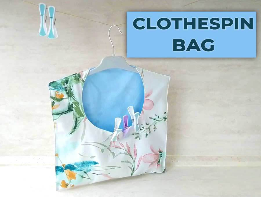how to make a clothespin bag