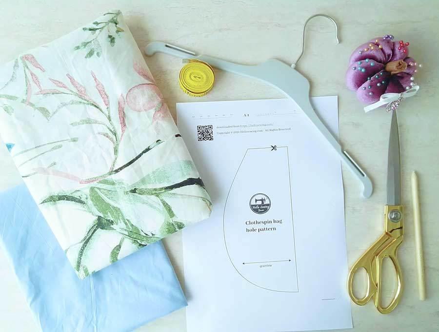 clothespin bag supplies