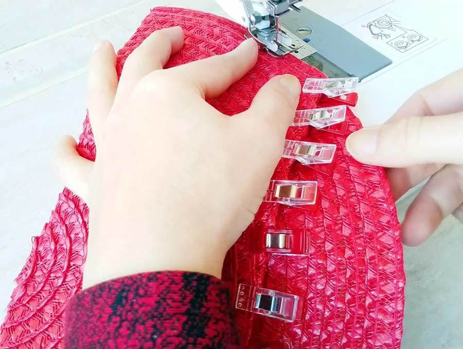 sewing the clutch purse