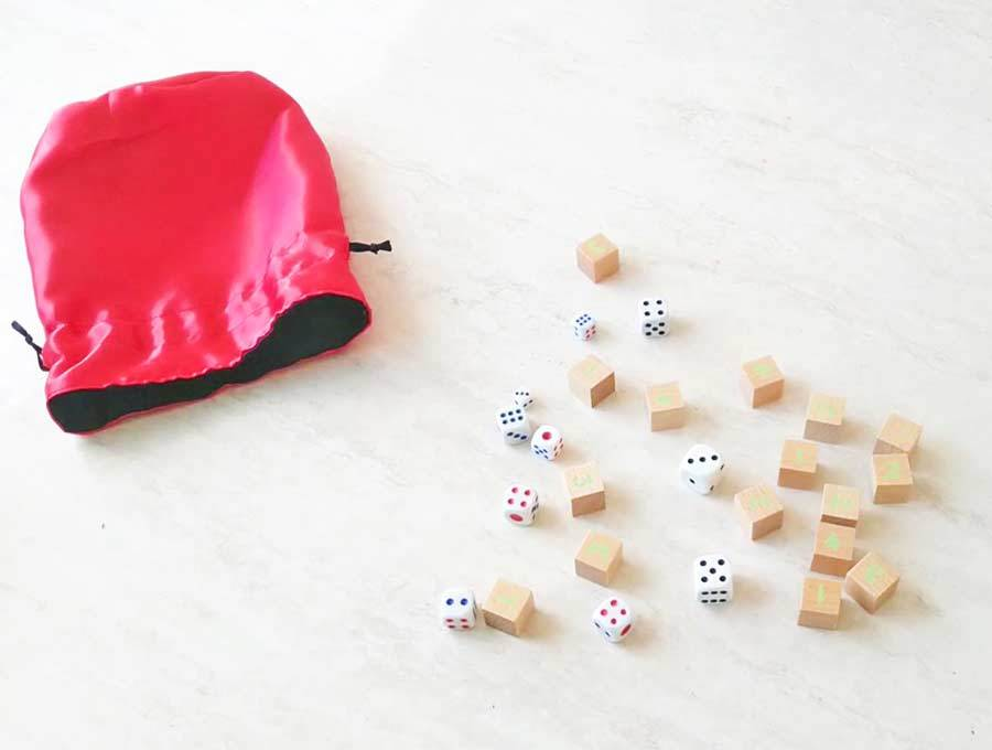 DIY Dice bag